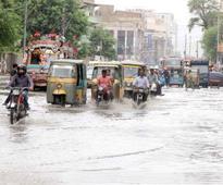12 dead as rain swamps Karachi