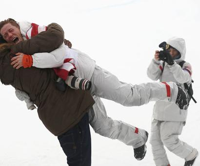 Winter OIympics PIX: US snowboarder White stamps legacy with third halfpipe gold