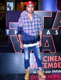 PIX: Ranbir, Ayan watch Star Wars: The Last Jedi
