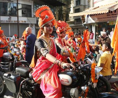 #Swagger! Enfield girls bring in Gudi Padwa