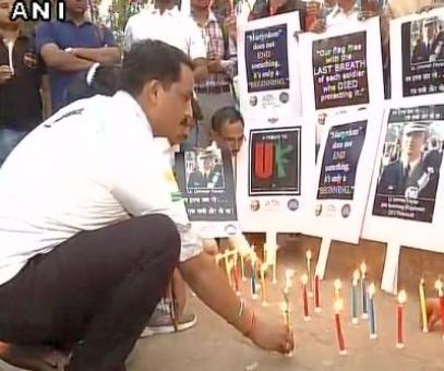 Candlelight march for Kashmiri officer Lt Umar Fayaz