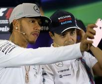 Hamilton sets pace in first Brazilian practise
