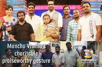 Manchu Vishnu's charitable praiseworthy gesture