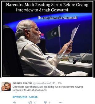 #PMSpeaksToArnab: How Twitter reacted to Modi's Arnab interview