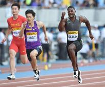 Gatlin roars to 100m victory; Wariner finishes third in 400m