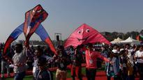 See Pic: Kites appealing for the relsease of Kulbhushan Jadhav seen at International Kite Festival
