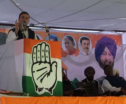 Rahul calls Sukhbir Badal 'symbol of corruption', attacks Modi