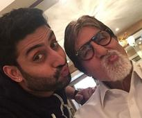 For Amitabh Bachchan, a Throwback Pic, With Love From Abhishek
