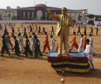 Ambedkar statue found caged in UP's Badaun