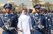 Saif bin Zayed Attends the Final Rehearsal of the Police College Graduation Ceremony