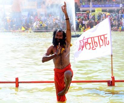 Sadhus and seers take holy dip during Ujjain Kumbh Mela