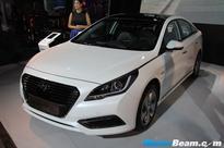 Hyundai Sonata Hybrid Showcased At 2016 Auto Expo [Live]