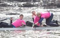 Ore Oduba, Vernon Kay and Rebecca Adlington join Olympic rowers to prepare for a celebrity version of The Boat Race