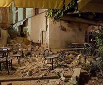 Quake damages buildings on Greek island; 2 killed, 100 hurt