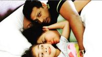 Lara Dutta stuck between husband Mahesh Bhupathi and daughter Saira makes for an adorable family portrait