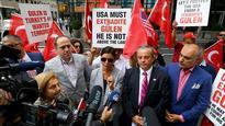 Protest at NBC news over false Turkey coup bid coverage