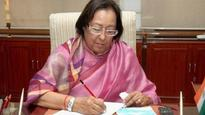 Najma Heptulla takes over as governor of Manipur