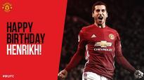 Henrikh Mkhitaryan celebrates his 28th birthday