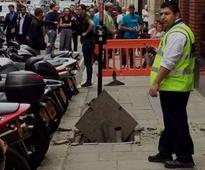Pavement 'explodes' in Blackfriars injuring woman