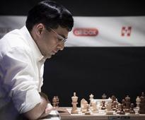 Viswanathan Anand defeats Shakhriyar Mamedyarov, jumps to joint lead in Tal Memorial Chess event