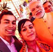Mulayam Singh's chhoti bahu Aparna Yadav, husband pay courtesy visit to UP CM Yogi Adityanath