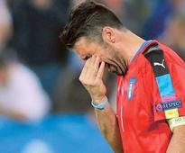 Euro 2016: Tearful Buffon in hurry to talk retirement