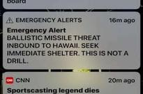 Hawaii panics after missile alert goes off by mistake