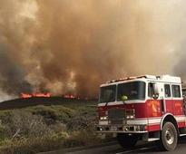 Third wildfire blazes around Vandenberg Air Force Base, California