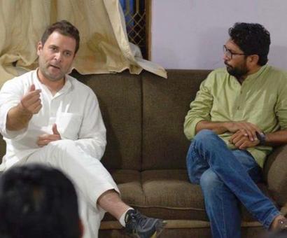 Dalit leader Mevani meets Rahul Gandhi, discusses demands
