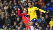 Ramires, Kaka, Ronaldinho on Brazil outer
