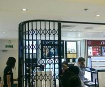ATDC retractable gates secure duty free store at Vietnam airport