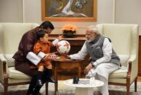 When PM Modi gifted a football to Bhutan Prince