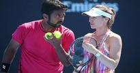 Paes- Hingis pair win mixed doubles opener, Mirza-Strycova pair out of Australian Open