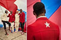 Cuban Olympic team uniform designed by Christian Louboutin