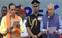 Vijay Rupani sworn in as Gujarat Chief Minister, Nitin Patel appointed Deputy CM