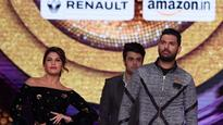 So much fun: Jacqueline Fernandez and Yuvraj Singh have a ramp walk competition!