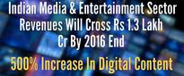 Indian Media & Entertainment Sector On A Roll – Revenues Will Cross Rs 1.3 Lakh Cr By 2016 End; 500% Increase In Digital Content