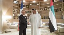 Mohammed bin Zayed receives French president