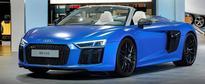 2017 Audi R8 Spyder in Arablau Matt Shows Up at Audi Forum