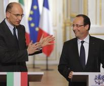 FRANCE - ITALY - GERMANY: Italy's new PM joins Hollande in opposing Merkel's austerity