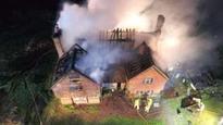 Man in hospital after blaze guts house