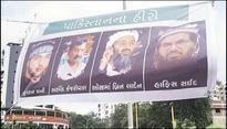 Gujarat: Arvind Kejriwals poster with Osama, Burhan Wani & Hafiz Saeed dot city ahead of AAP rally