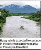 Rain triggers flood alert on Cauvery path