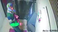 Burglar tries to break Axis Bank ATM in Mailardevpally