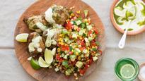 Recipe: Chimichurri chicken with corn, tomato, cucumber and coriander salsa
