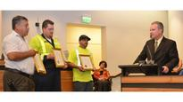 MTC Commission Honors FSP, Waste Management Drivers for Roadside Heroism