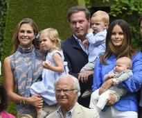 Swedish royal babies steal the show at family photocall