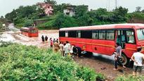 ST bus gets stuck in flood waters, passengers rescued