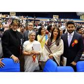 Abhishek celebrates father Amitabh Bachchan's success