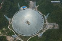 Installation of largest single-aperture spherical telescope to finish